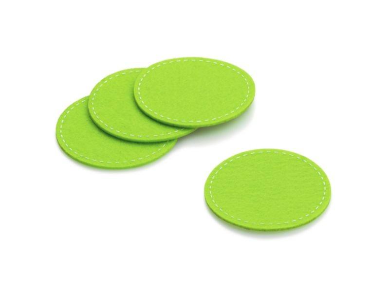 Podtácek Alia 4ks 10 cm, filc, zelená KELA KL-11824