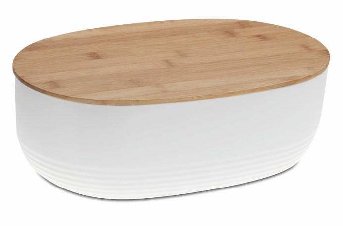 Chlebník NAMUR plast / dřevo bílá KELA KL-12060