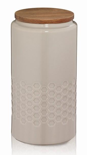 Dóza MELIS keramika 1.3l šedá KELA KL-12087