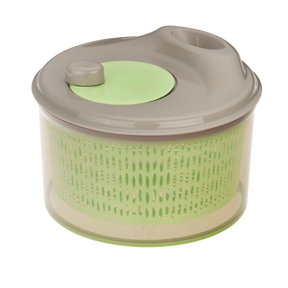 Odstředivka na salát DRY PP-plastik, pastelově zelená H 16cm / Ř 24cm