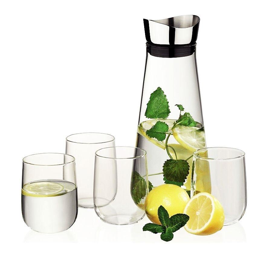 Karafa na vodu vč.4 skleniček FONTANA H 27cm / Ř 11cm / 1,3 KELA KL-12415