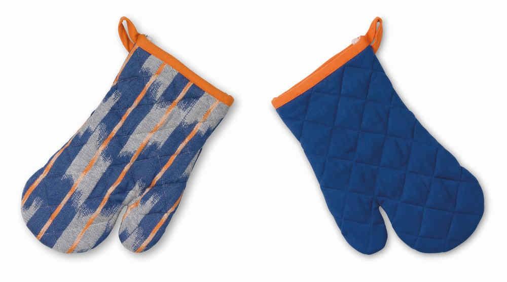 Chňapka ETHNO 100% bavlna, modrá, 18x28cm