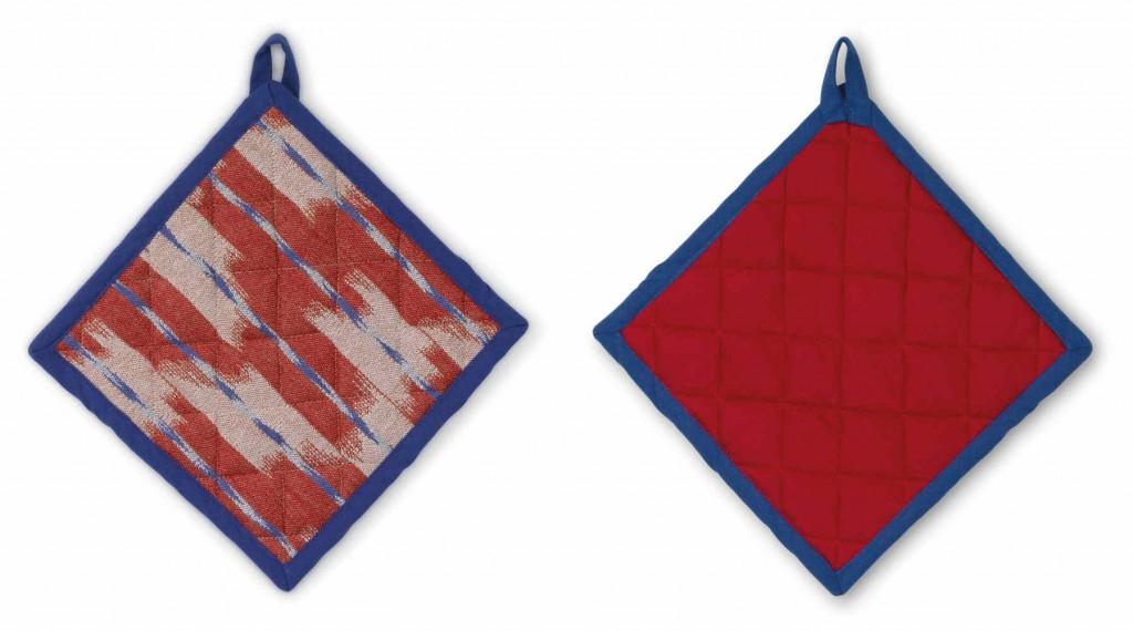 Chňapka čtvercová ETHNO 100% bavlna červená 20x20cm KELA KL-12445