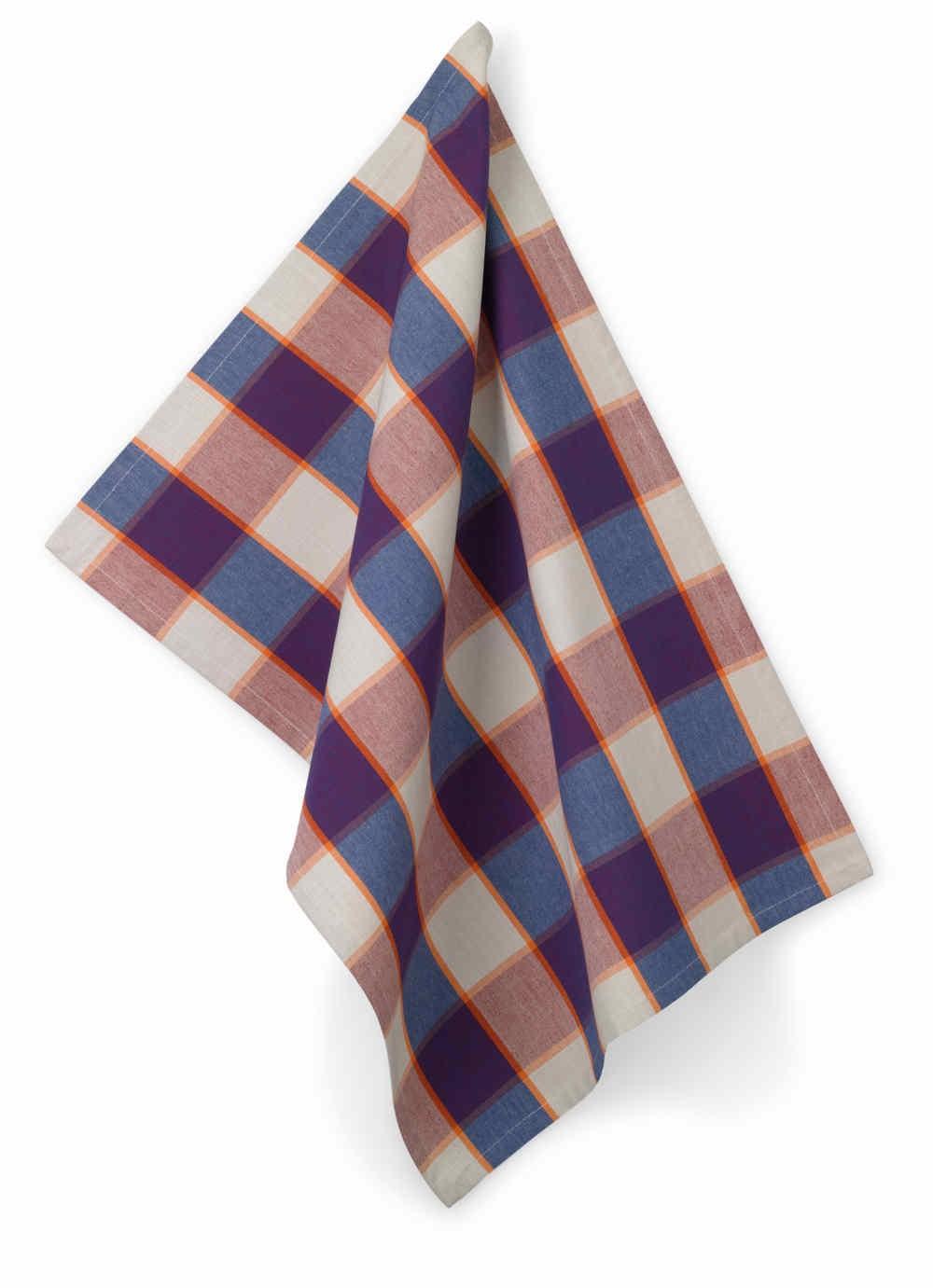 Utěrka ETHNO 100% bavlna, kostka modrá, 50x70cm