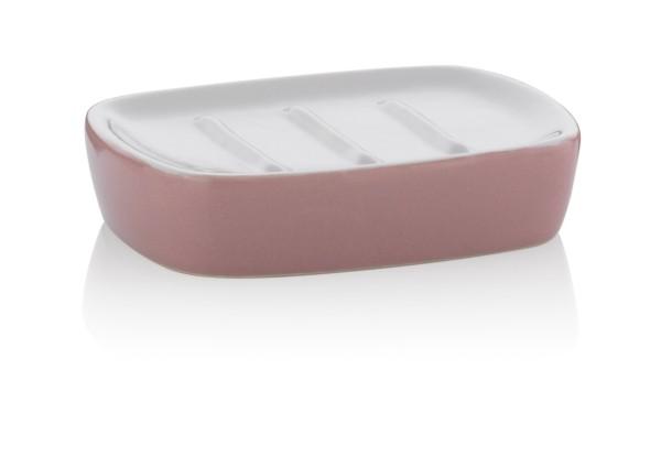 Miska na mýdlo LINDANO keramika růžová KELA KL-20331