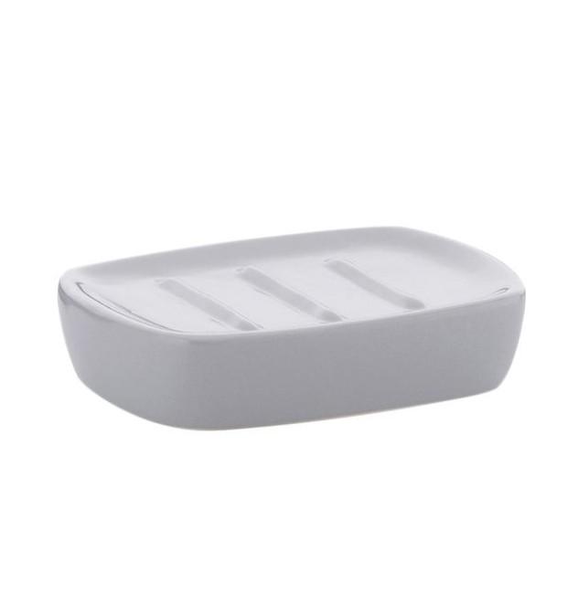 Miska na mýdlo LANDORA keramika šedá KELA KL-20405