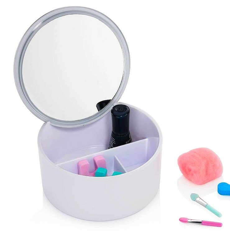 Kosmetická dóza a zrcátko 2v1 TILDA bílá KELA KL-20661