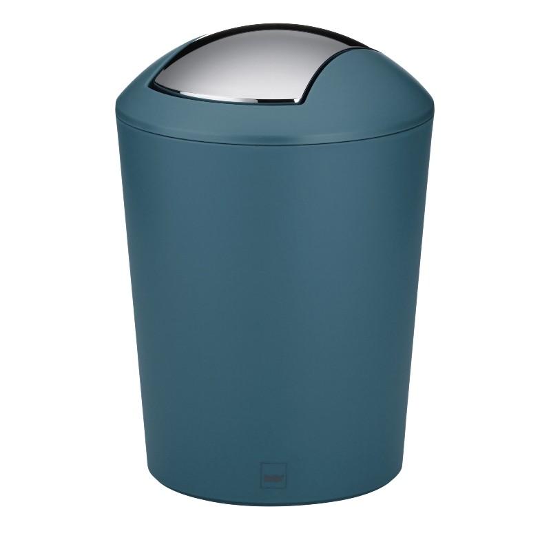 Odpadkový koš MARTA plast, petrolejová H 21cm / Ř 15cm / 1,7