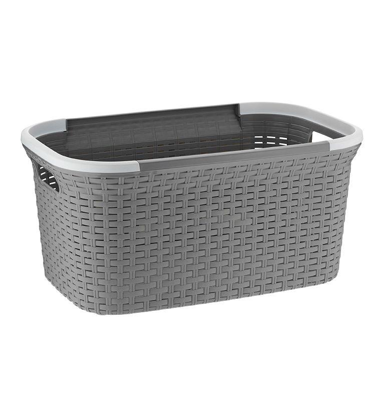 Koš na prádlo RIO 40 L plast šedý