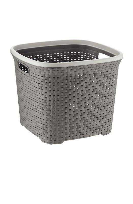 Koš na prádlo RIO 45 L plast šedý