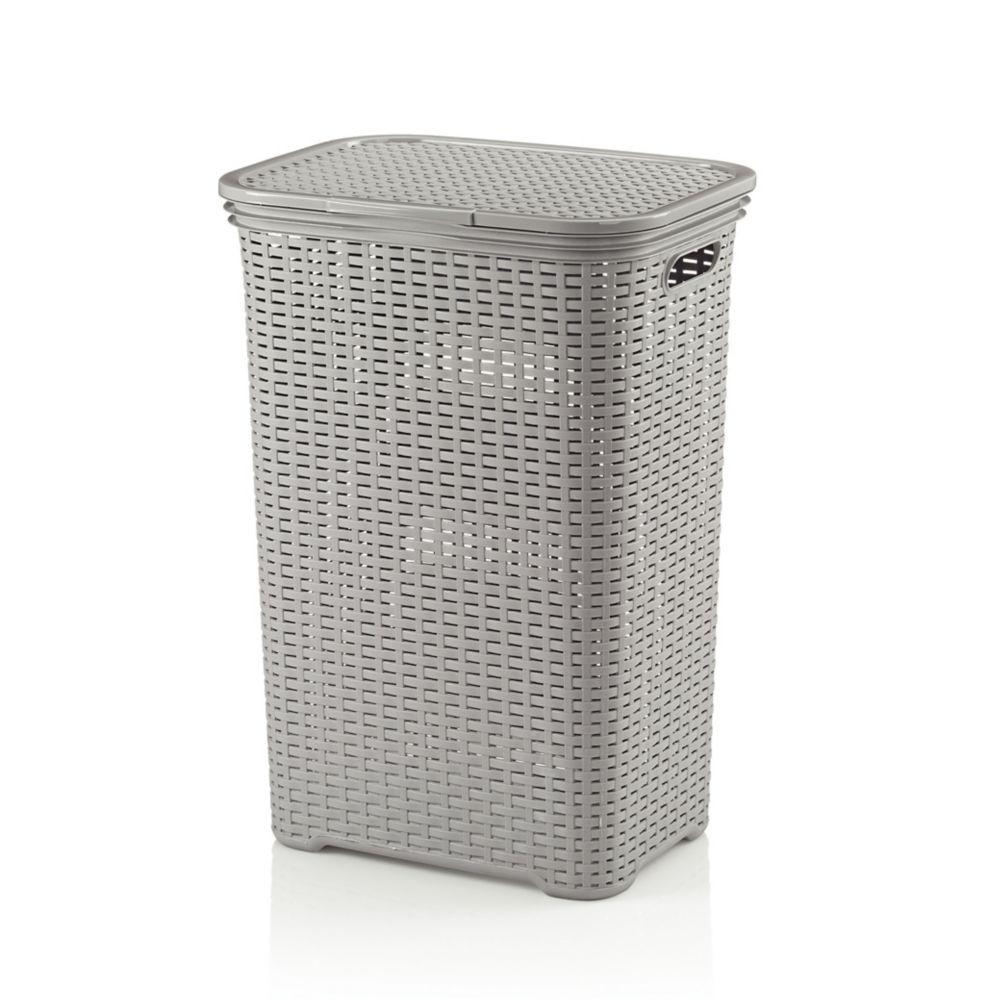 Koš na prádlo BRASILIA PP plastik, sv.šedá L 43,5cm x W 33,5cm x H 60cm / 60