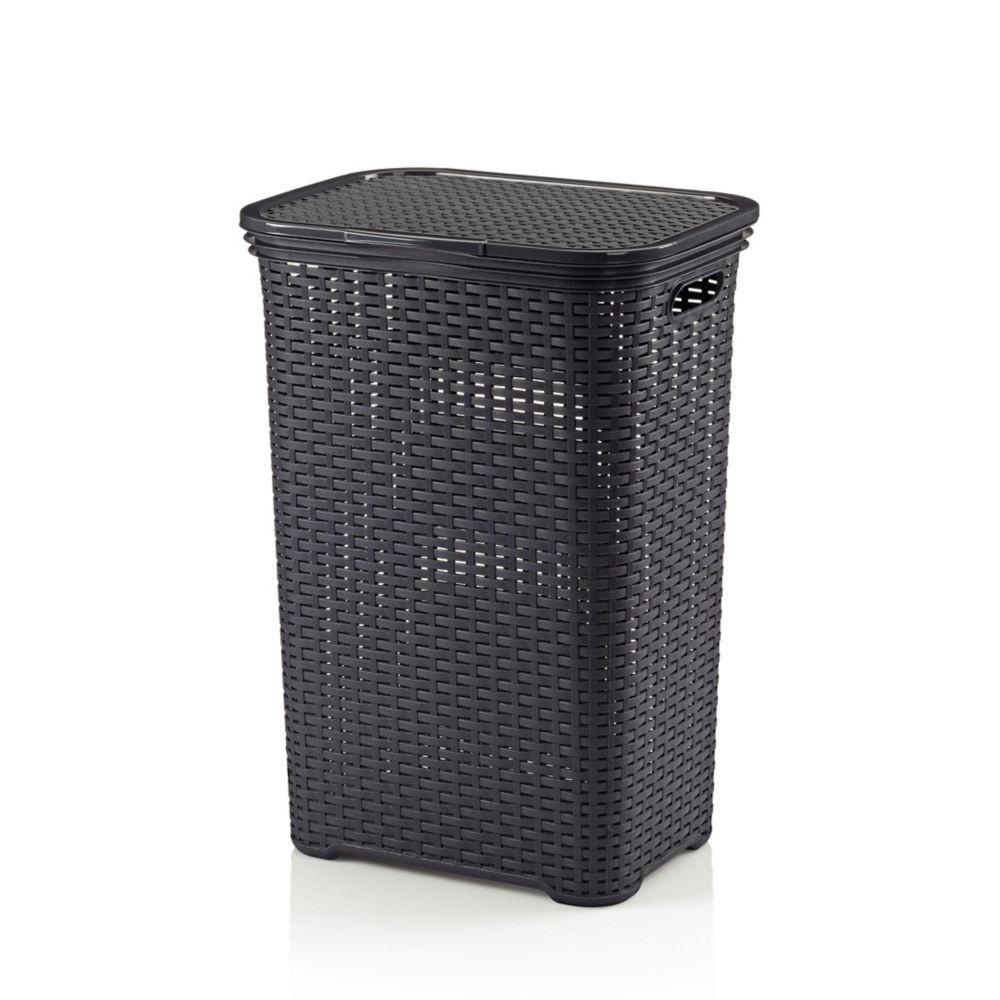 Koš na prádlo BRASILIA PP plastik, tm.šedá L 43,5cm x W 33,5cm x H 60cm / 60