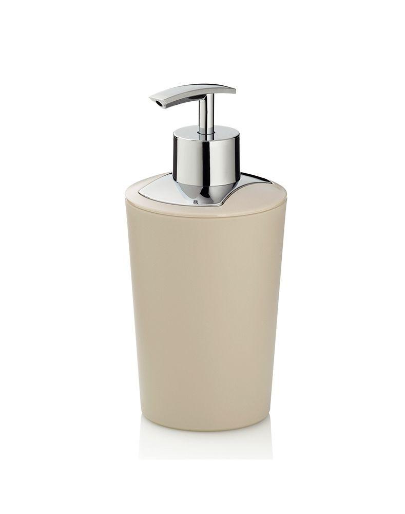 Dávkovač mýdla MARTA plastik krémová H 17cm / Ř 8cm / 350 KELA KL-24182