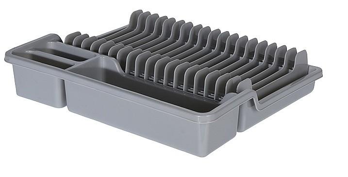 Odkapávač na nádobí rozkládací 35x30cm šedá
