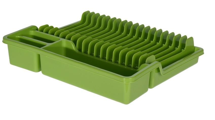 Odkapávač na nádobí rozkládací 35x30cm zelená