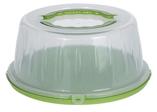 Box na potraviny s víkem přenosný zelená