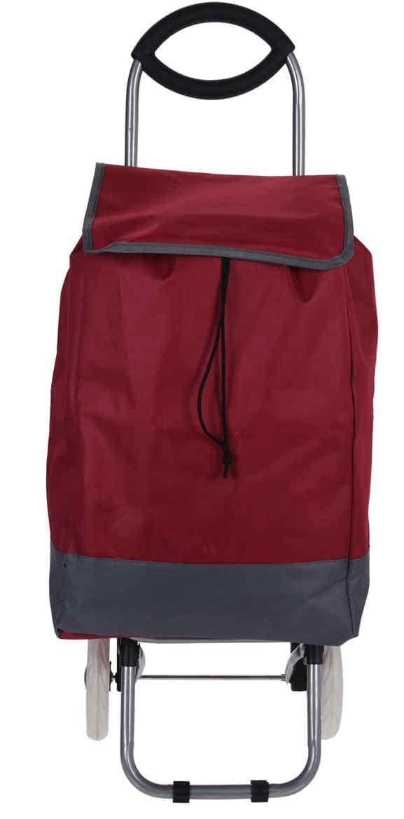 Taška nákupní na kolečkách červená EXCELLENT KO-116000140ce