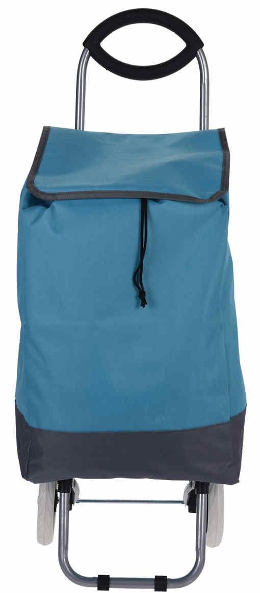 Taška nákupní na kolečkách modrá