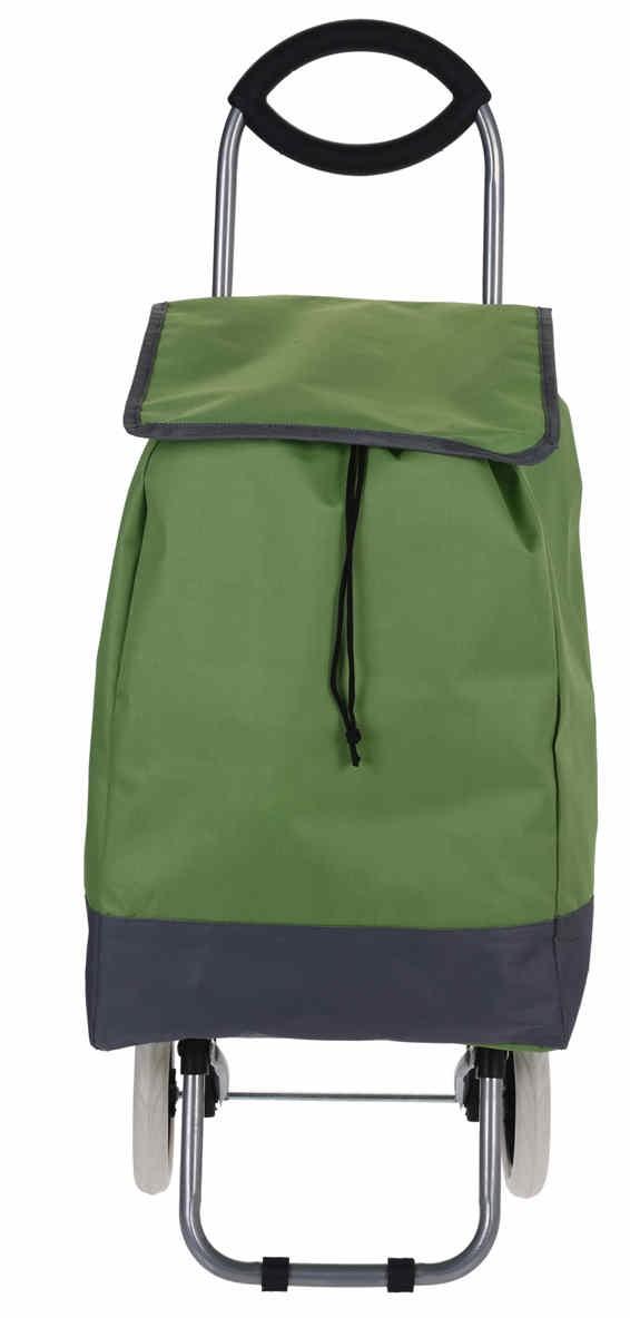 Taška nákupní na kolečkách zelená