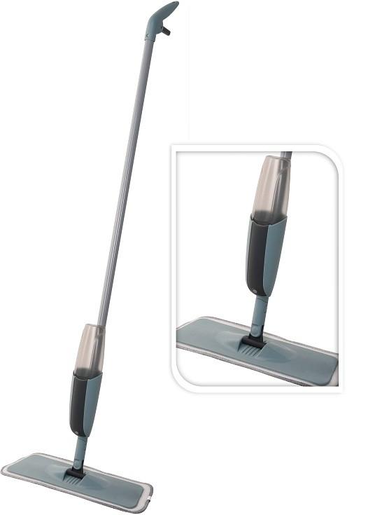 Mop na podlahu s rozprašovačem QUICK SPRAY šedý