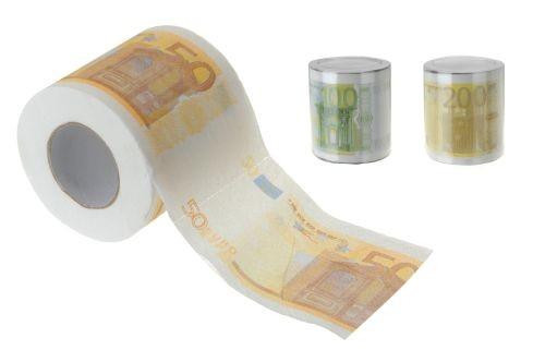 Toaletní papír, 100 útržků, motiv bankovek EXCELLENT KO-159999020
