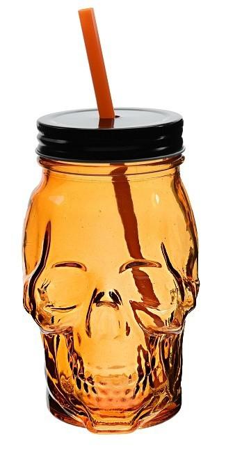 Sklenice na limonádu a koktejly LEBKA 450 ml oranžová EXCELLENT KO-170427370or