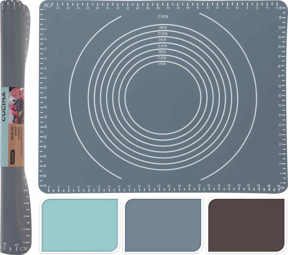 Vál pečící silikonový 50 x 40 cm šedá