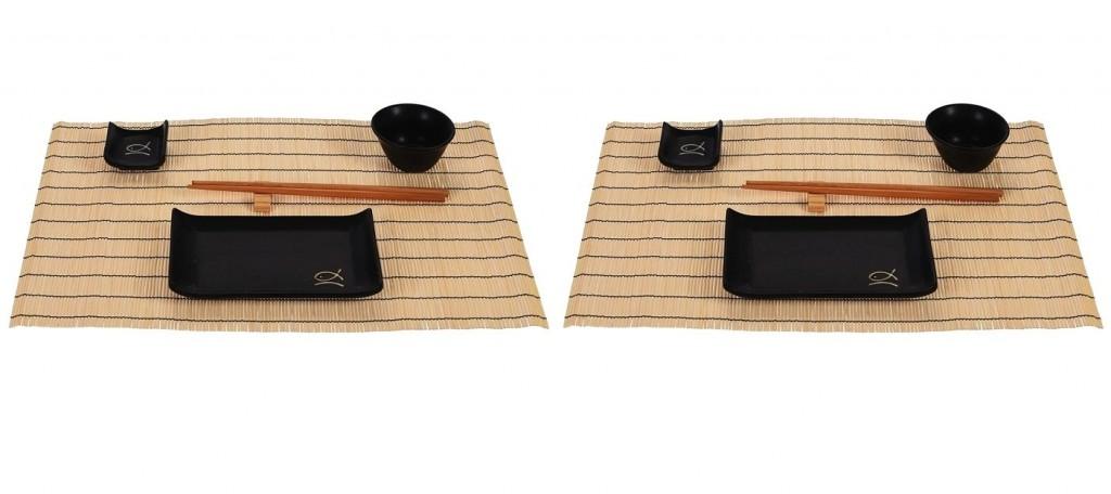 Sushi set keramika / bambus sada 14 ks EXCELLENT KO-170451190