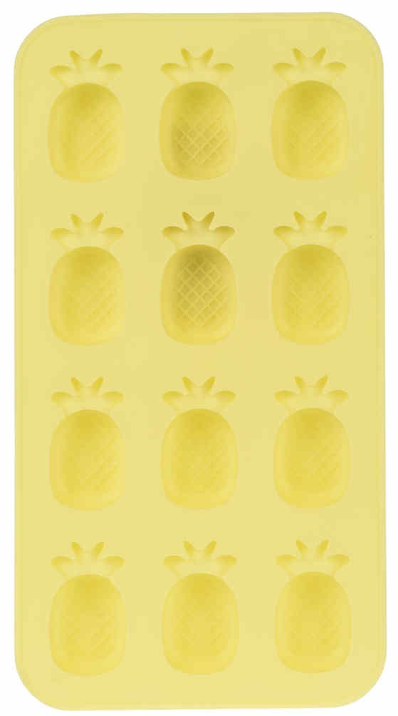 Forma na led žlutá ananasy