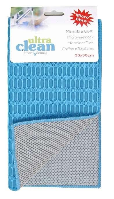 Utěrka / odkapávač na nádobí mikrovlákno 30x30 cm modrá