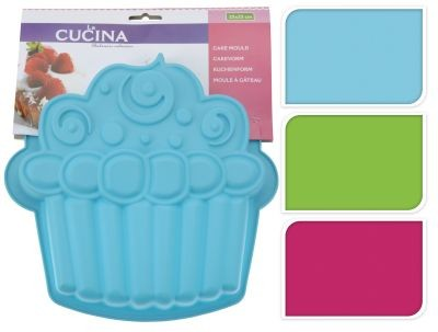 Forma na dort ve tvaru muffinu, modrá