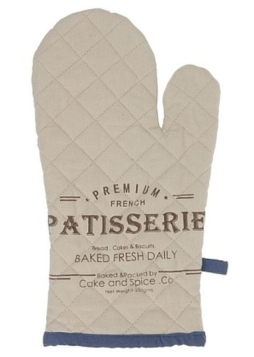 Chňapka rukavice 100% bavlna LUXE modrá