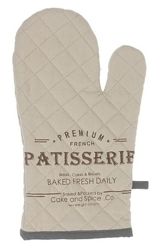 Chňapka rukavice 100% bavlna LUXE šedá