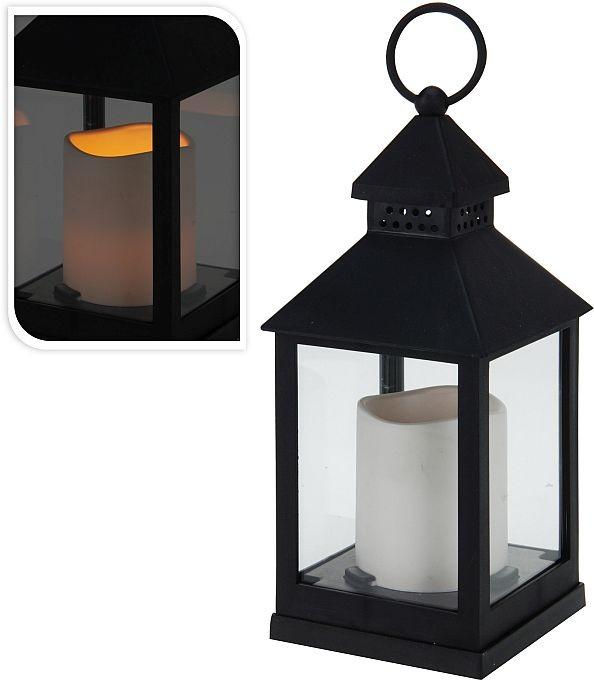 Lucerna s LED svíčkou 23 cm