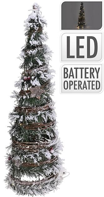 Vánoční světelný strom 37 cm 10LED HOMESTYLING KO-ACW003400