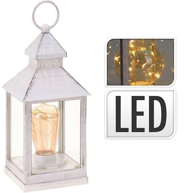 Lucerna s LED žárovkou 23 cm bílá