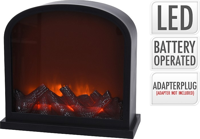Elektrický krb s LED plameny 30x28cm