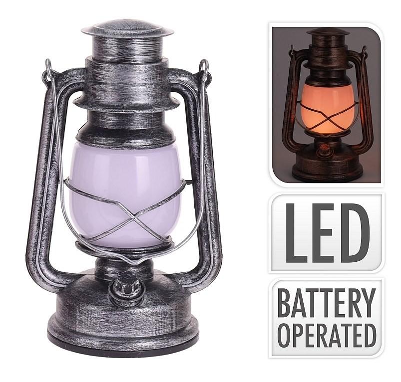 Lucerna s LED žárovkou 25 cm stříbrná PROGARDEN KO-AX5305190st