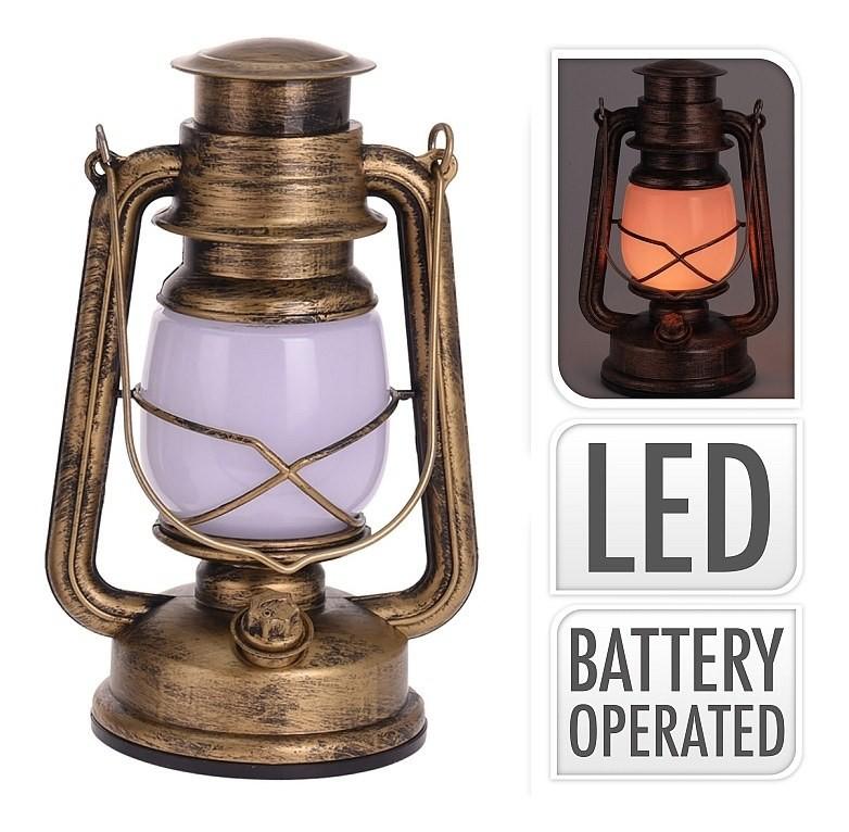 Lucerna s LED žárovkou 25 cm zlatá PROGARDEN KO-AX5305190zl