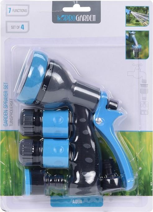 Postřikovací sprcha na zahradní hadici + spojky sada 4 ks PROGARDEN KO-C22280260