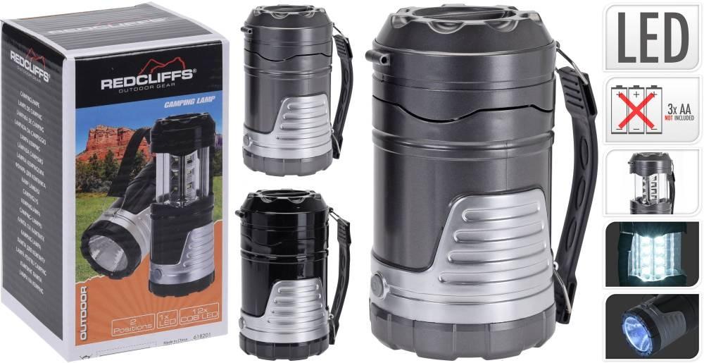 Svítilna campingová LED Redcliffs 8x14,5cm PROGARDEN KO-C22300110