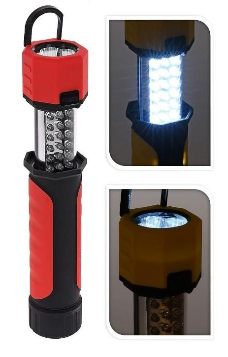 Svítilna a baterka multifunkční LED červená