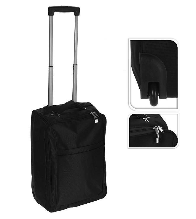 Kufr příruční textilní 50 x 34 x 20 cm černý EXCELLENT KO-DG6000010
