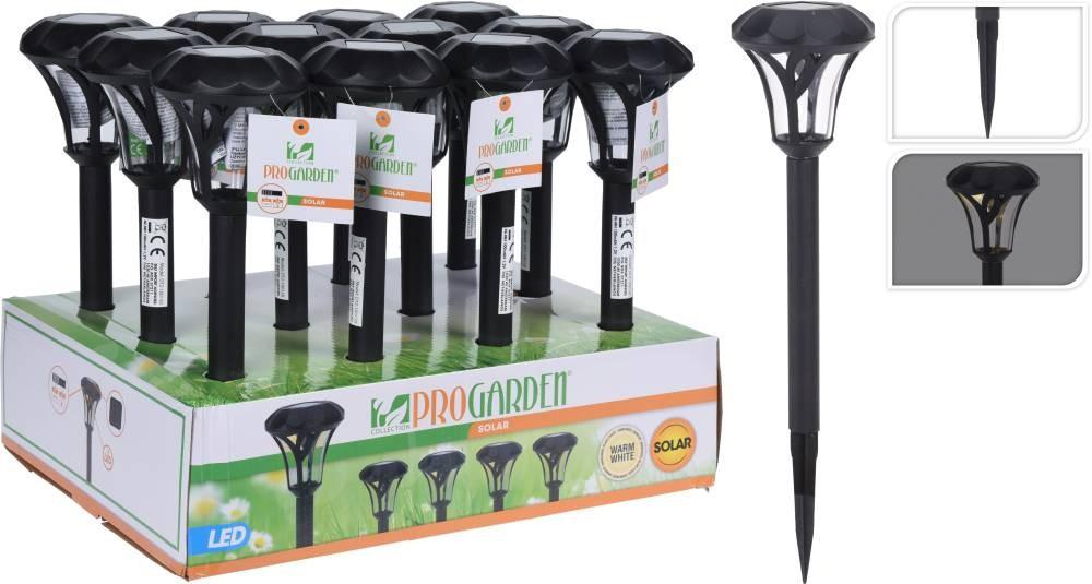 Lampa solární zahradní LED světlo 37 cm