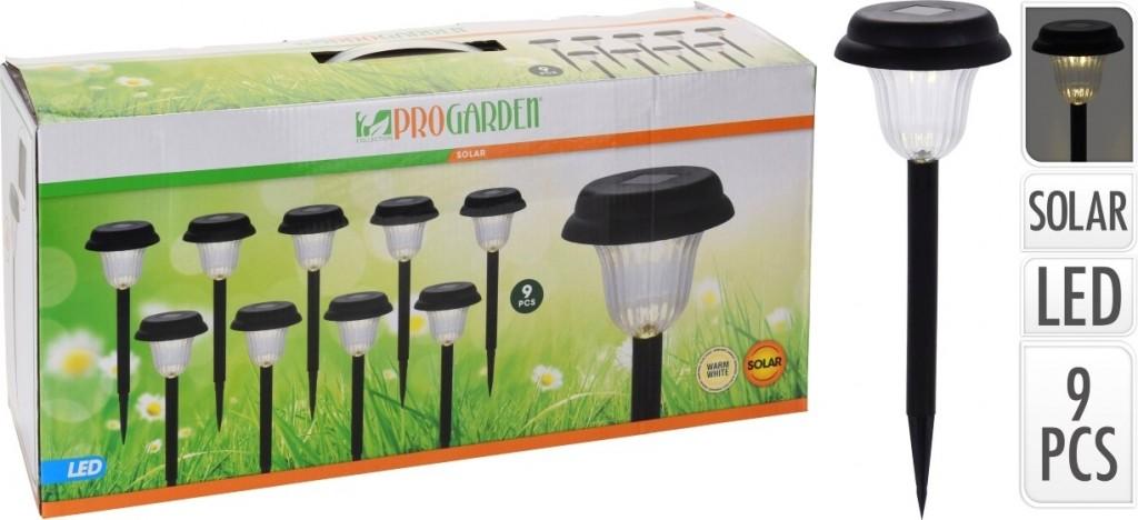 Lampa solární zahradní sada 9 ks PROGARDEN KO-DT2100370