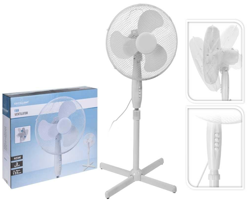 Ventilátor stojanový 41 cm bílý