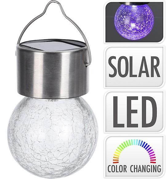 Lampa solární žárovka na zavěšení 6 cm
