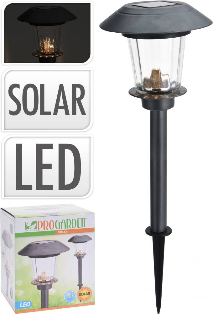 Lampa solární zahradní LED světlo nerez 52 cm