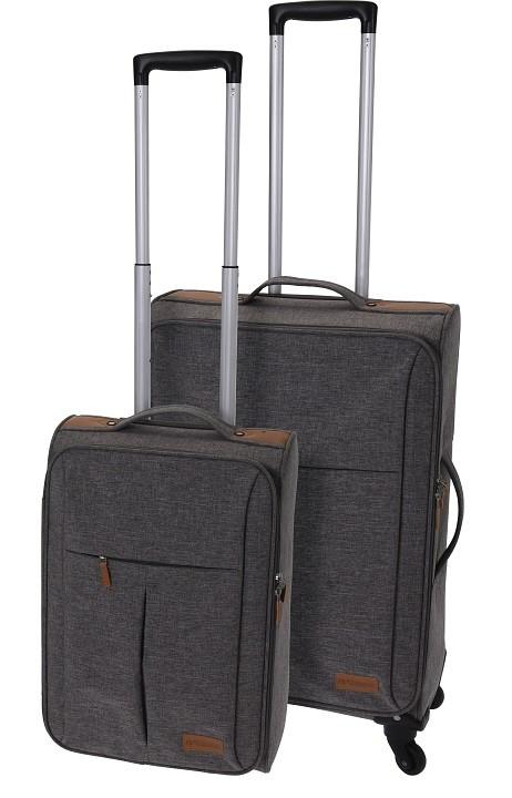 Kufr na kolečkách sada 2 ks šedý EXCELLENT KO-FB5000110