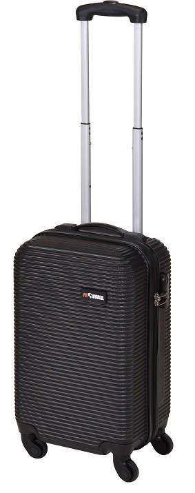Kufr příruční na kolečkách 50 cm PROWORLD černý vroubky EXCELLENT KO-FB5000120